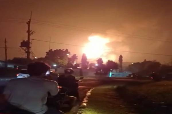 Begini Penjelasan Pertamina Terkait Semburan Api di Langit Cikarang