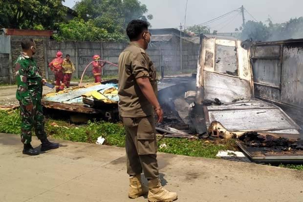 Kebakaran Dekat Bandara Soekarno-Hatta, Asap Pekat Berasal dari Limbah Terbakar