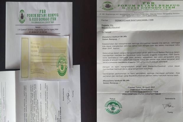 Takut Diciduk Polisi, Oknum FBR Minta THR ke Pedagang di Tangsel Minta Maaf