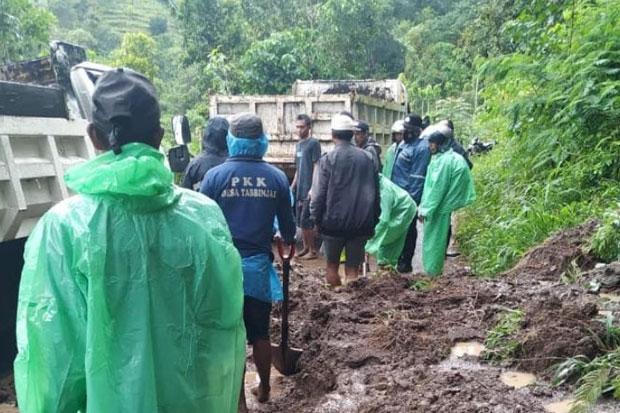 Longsor di Tombolopao Sempat Tutup Akses Jalan Poros Gowa-Sinjai