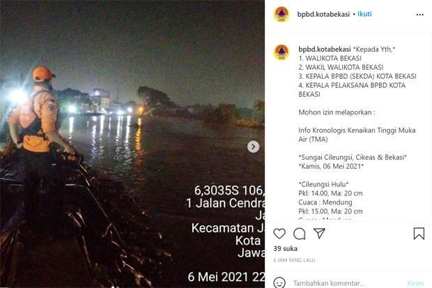 Banjir Akibat Tanggul Jebol Kali Bekasi Surut