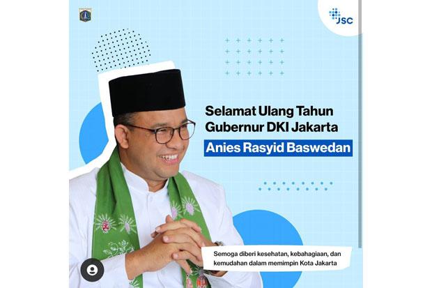 Anies Ulang Tahun ke-52, Netizen: Yaumul Milad Pak Gubernur Indonesia, Sehat Selalu