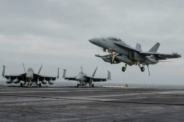 Lindungi Penarikan Pasukan dari Afghanistan, AS Kirim 12 Jet Tempur F-18