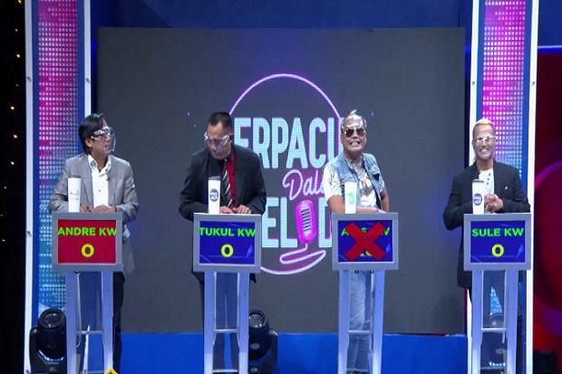 Sule KW, Aziz KW, Andre KW dan Tukul KW di Berpacu Dalam Melodi Malam Ini Pukul 21.00 WIB