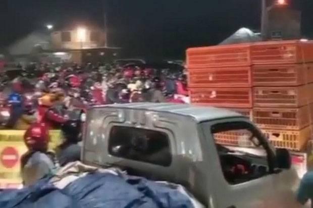 Pemudik dari Jakarta di Kedung Waringan Bekasi, Diputarbalik Polisi