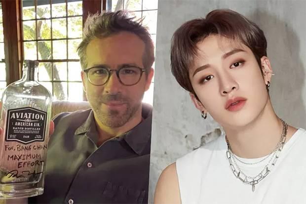 Ngaku Penggemar Grup K-Pop Stray Kids, Ryan Reynolds Minta Tanda Tangan Bang Chan
