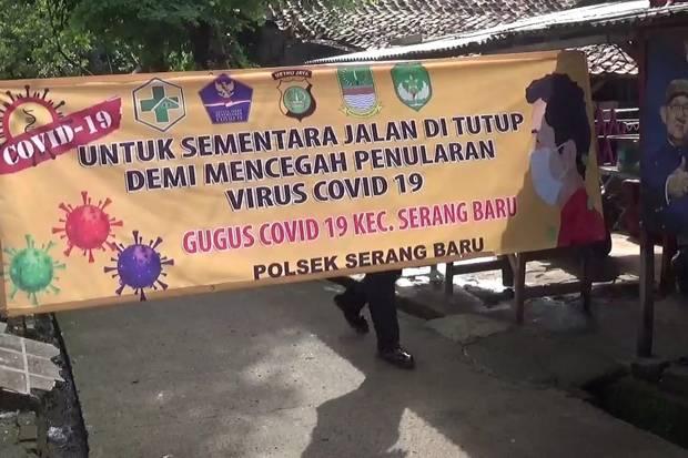 Ketua RT Terpapar Covid-19, Kampung Pasir Rindu Asem Bekasi Lockdown Mikro