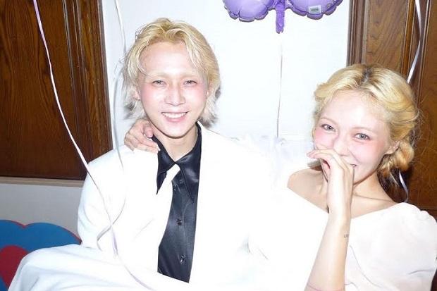 HyunA dan Dawn Diduga Sudah Menikah, Pakai Gaun dan Setelan Jas Putih