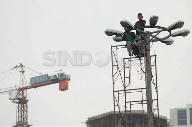 Asyik... Jembatan Tegalrotan di Tangerang Dipasang Lampu Penerangan