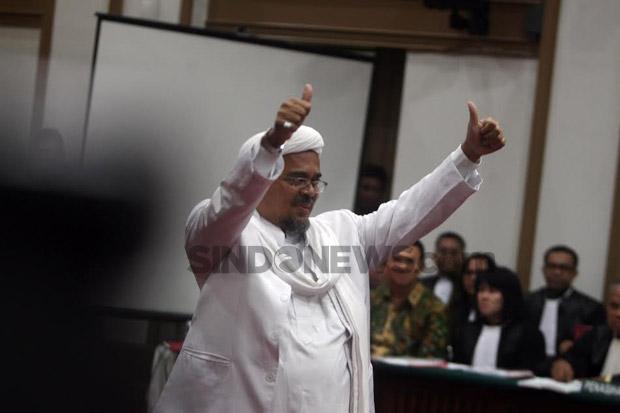 Nilai Tuntutan JPU Tak Terbukti, Habib Rizieq Minta Vonis Bebas dari Perkara Swab Test RS UMMI