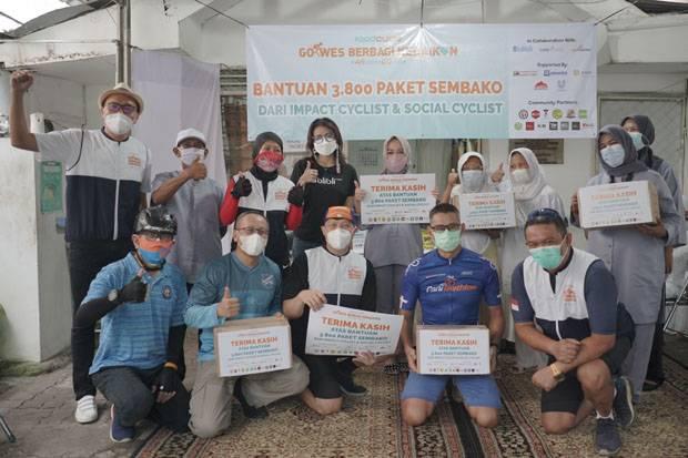 Gandeng 323 Pesepeda, FoodCycle Indonesia Salurkan 12.000 Paket Sembako