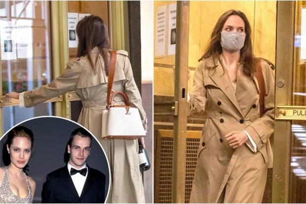 Akui Nyesal Bercerai, Angelina Jolie Kepergok Sambangi Aparteman Mantan Suami Pertama Jonny Lee Miller