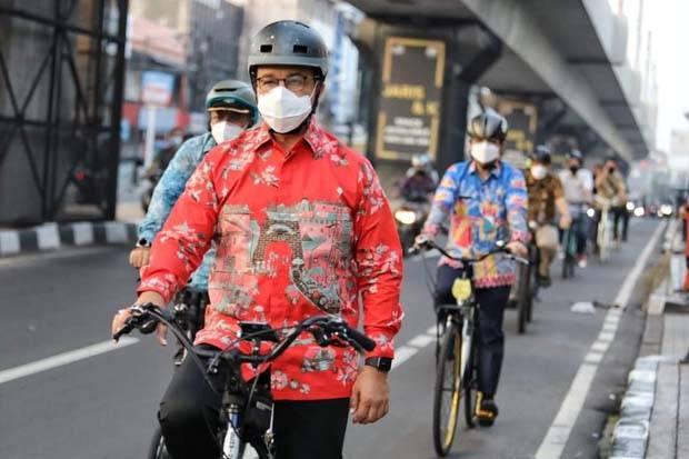 Anies Tidak Tartarik Bahas Pembongkaran Jalur Sepeda, Sedang Fokus Masalah Covid-19