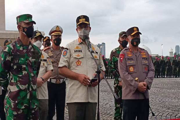 TNI/Polri dan Pemprov DKI Operasi Tertib Protokol Kesehatan, Anies: Ini Perjuangan Semesta