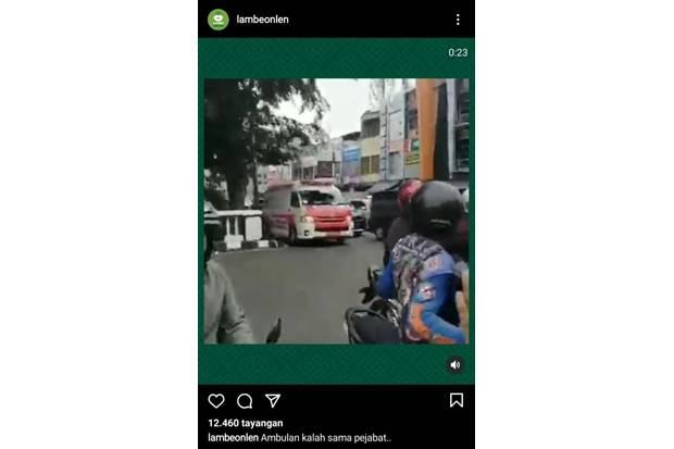 Viral, Ambulans Bawa Pasien Kritis Ditahan saat Iringan Mobil Pejabat Melintas