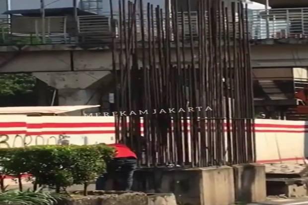Pencuri Ngaku Pereteli Tiang Besi Monorel untuk Tebus Motor di Bengkel