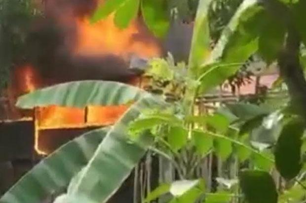 Rumah Warga di Cendana Ludes Terbakar Diduga Karena Korsleting