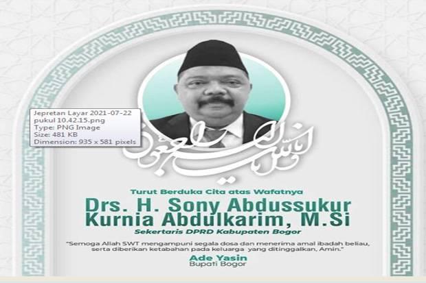 Sekretaris DPRD Kabupaten Bogor Meninggal Dunia, Ade Yasin: Beliau Pekerja Keras yang Humoris