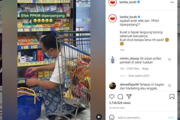 PPKM Diperpanjang, Video Pria Borong Kondom Viral di Medsos