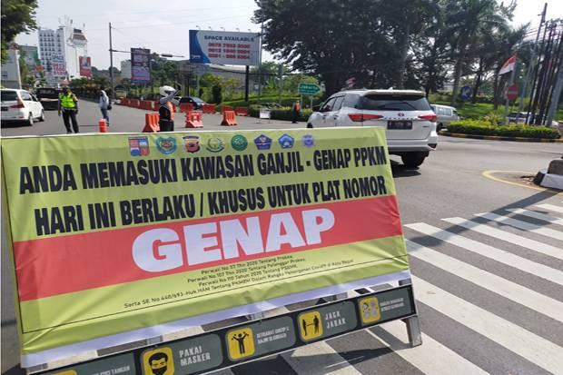 3 Hari Ganjil Genap di Bogor, 21.749 kendaraan Bermotor Dipaksa Putar Balik