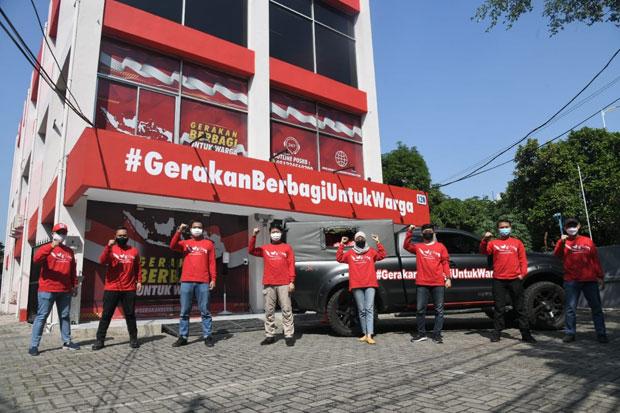 Gerakan Berbagi untuk Warga Salurkan Ratusan Paket Sembako ke Cipinang Muara