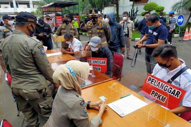 PPKM Darurat, Denda Pelanggar Protokol Kesehatan di Kota Bekasi Terkumpul Rp33 Juta