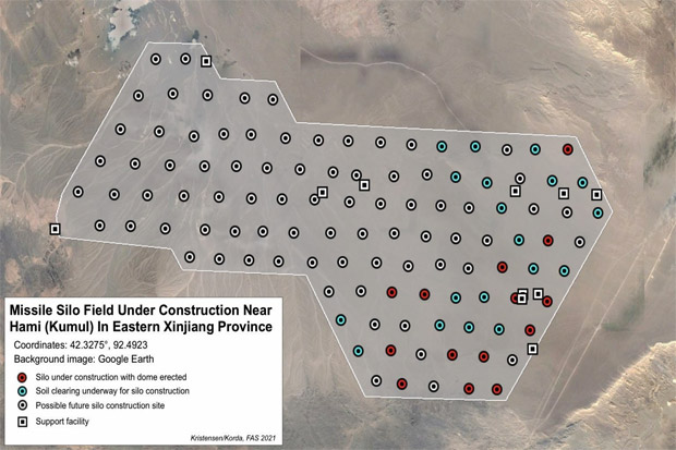 Temuan Ladang Silo Rudal Balistik Baru China Bikin AS Cemas