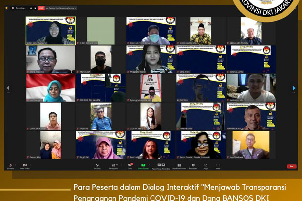 Menjawab Transparansi Penanganan Covid-19 DKI, KIP Gelar Dialog Interaktif Pemangku Kebijakan