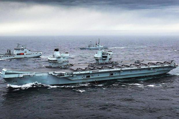 Kapal Induk Inggris Masuk LCS, China Siaga Tempur Tingkat Tinggi