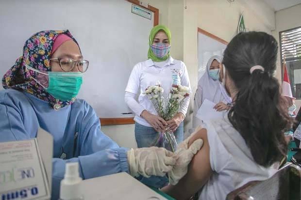 Hari Anak Nasional, 1.000 Pelajar Kota Bogor Antusias Divaksin