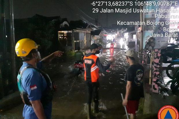 Diguyur Hujan Deras, Belasan Rumah di Bojonggede Terendam Banjir