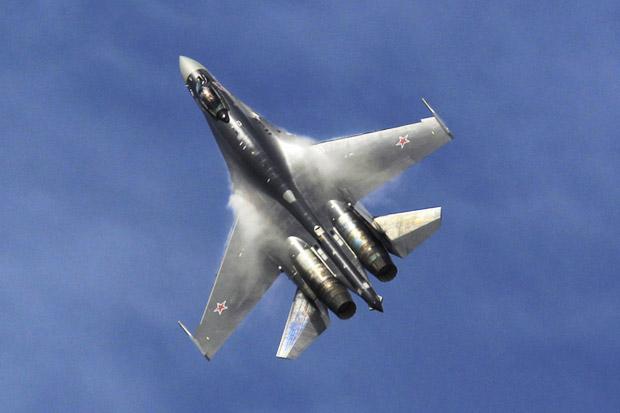 Alami Kerusakan Mesin, Jet Tempur Su-35 Rusia Jatuh ke Laut