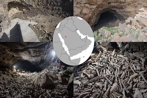 Ribuan Tulang Belulang dari Binatang hingga Manusia Ditemukan Dalam Gua di Saudi
