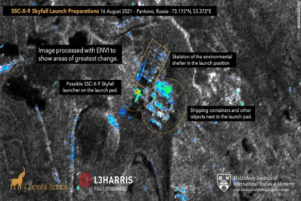 Rusia Terindikasi Bersiap Uji Coba Rudal Skyfall Bertenaga Nuklir