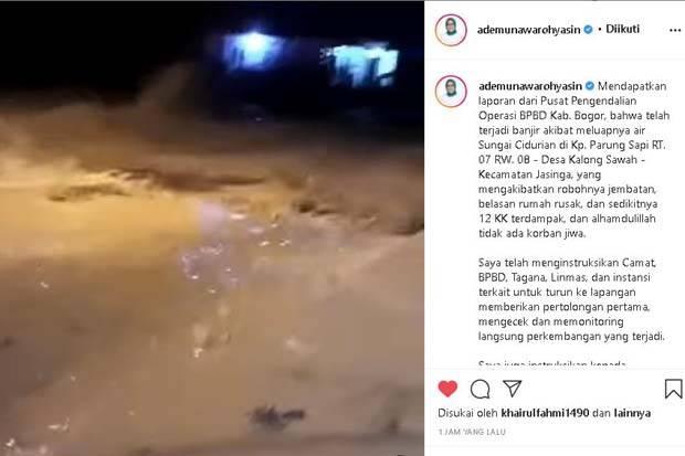 Update Tengah Malam, Bupati Bogor Kabarkan Bencana Banjir Besar di Jasinga