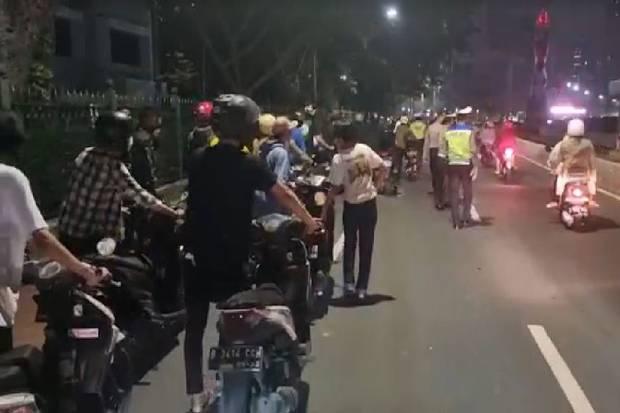 639 Kendaraan Ditilang pada Operasi Crowd Free Night di Jakarta