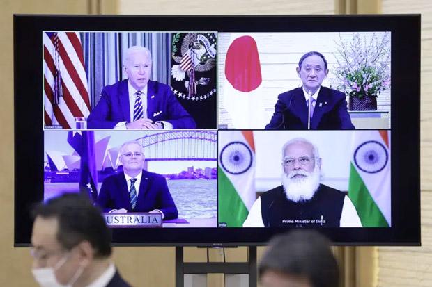 Tangkal Pengaruh China, AS Gelar KTT Pertama Koalisi Quad