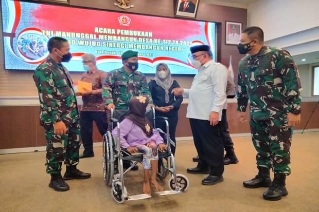 TMMD Ke-112 di Depok Bentuk Komitmen TNI Bantu Masyarakat di Tengah Pandemi