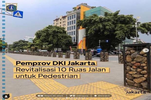 Anies Pamer Penataan Trotoar, Jakarta Makin Cantik