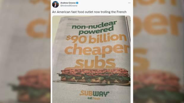 Iklan Sandwich Subway Sindir Batalnya Proyek Kapal Selam Prancis dan Australia