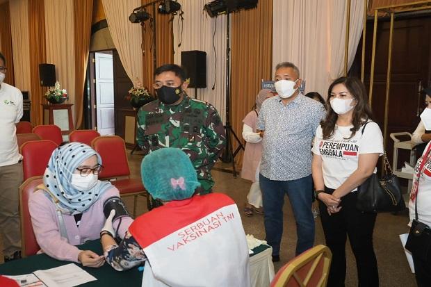 Perempuan Jenggala Kembali Gelar Vaksinasi di Tangerang, Optimistis Ekonomi Bergerak
