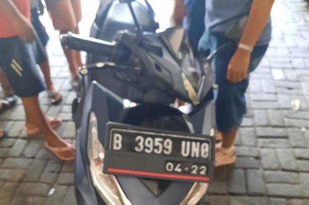 Ditinggal Nyervis, Motor Tukang AC Nyaris Raib Dibawa Maling