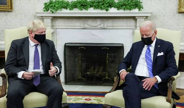 Biden Tertidur Saat Bertemu PM Inggris di Gedung Putih, Wartawan Langsung Disuruh Pergi