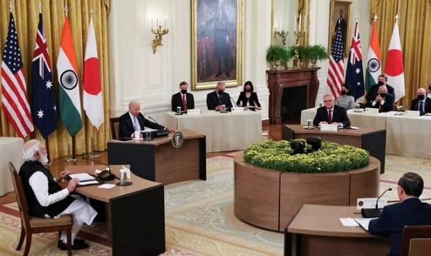 China Peringatkan AS akan Campakkan India, Australia, dan Jepang