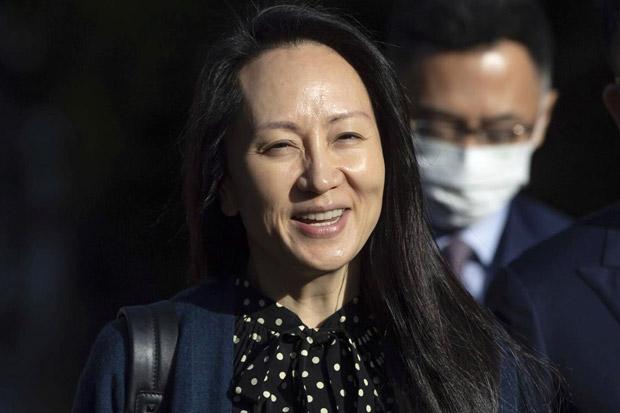 Lebih dari 2 Tahun Ditahan, Kanada Akhirnya Bebaskan Bos Huawei Meng Wanzhou