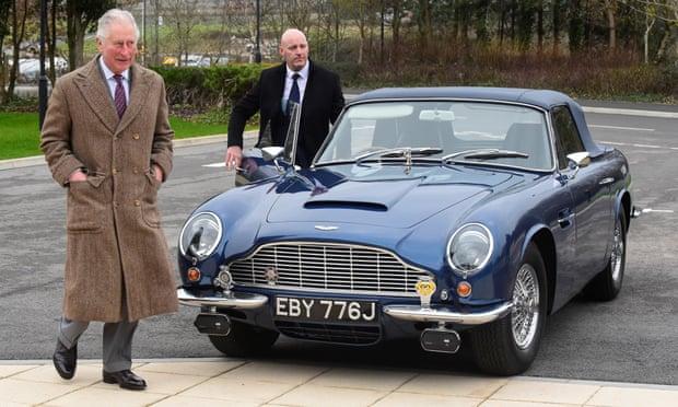 Aston Martin Pangeran Charles Gunakan Sisa Keju dan Anggur Sebagai Bahan Bakar