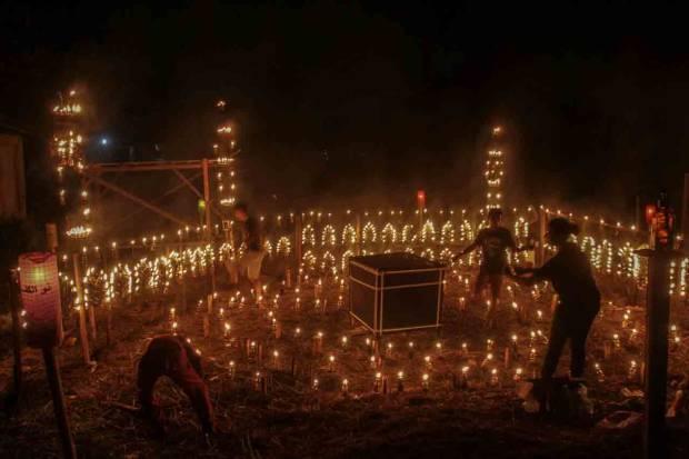 Festival Lampu Colok di Pekanbaru Meriahkan Pekan Terakhir Ramadhan