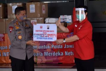 Polda Jateng Terima Bantuan APD dari Perhimpunan Indonesia Tionghoa