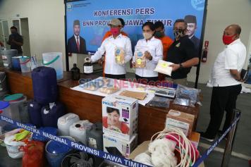 BNNP Jawa Timur Bongkar Pabrik Sabu-Sabu