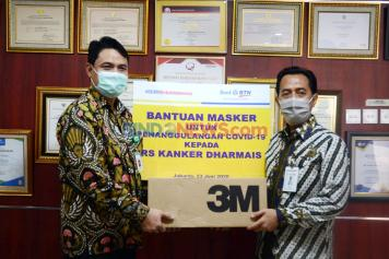 BTN Serahkan Bantuan Masker ke RS Dharmais